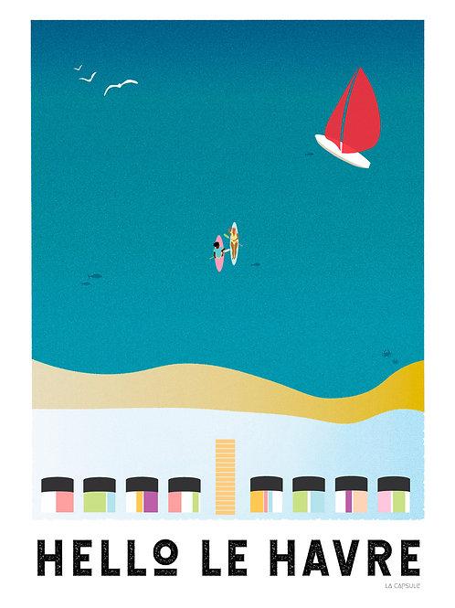 Hello Le Havre - affiche illustrée