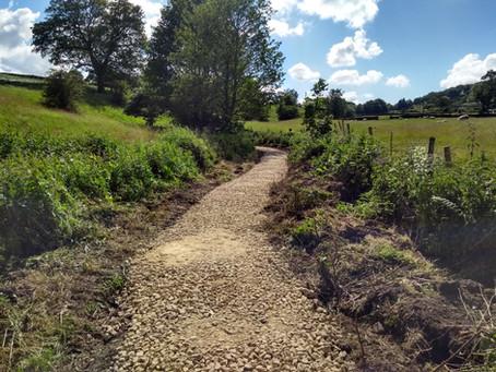 Footpath work