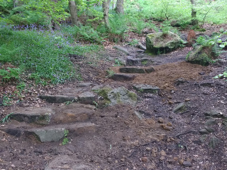 Footpaths at Hardcastle Crags
