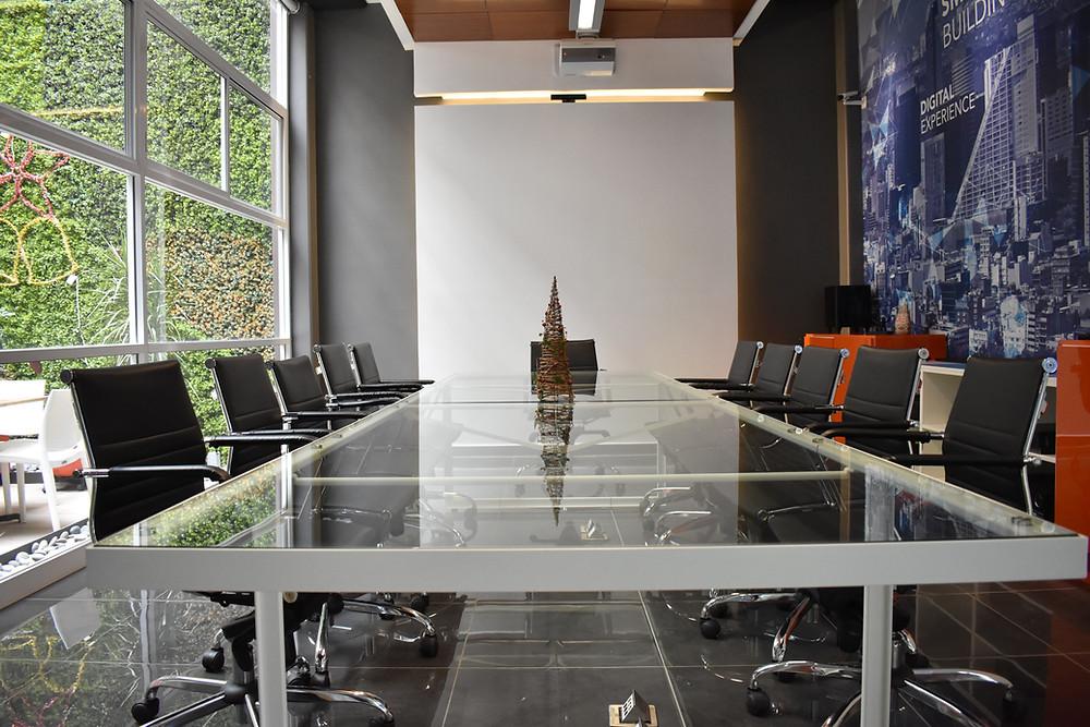 sala de juntas para presentaciones