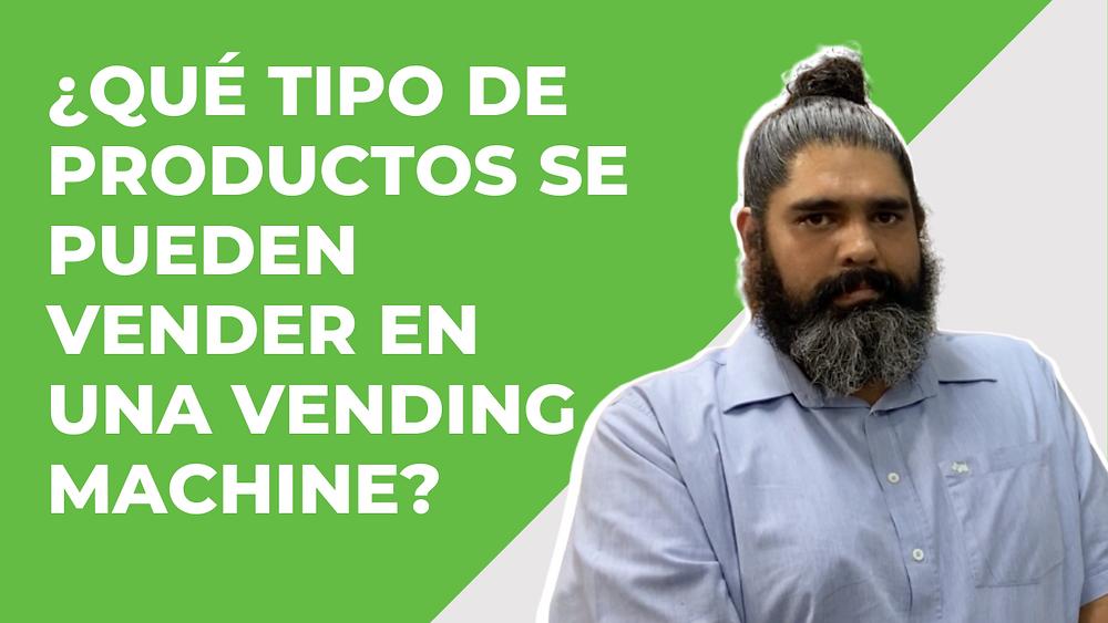 ¿Qué tipo de productos se pueden vender en una máquina vending?