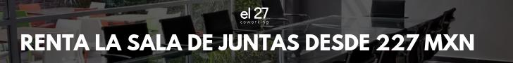 Renta de Sala de Juntas desde 227 MXN