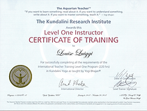 Kundalini Teacher Training Certificate Level 1 - KRI