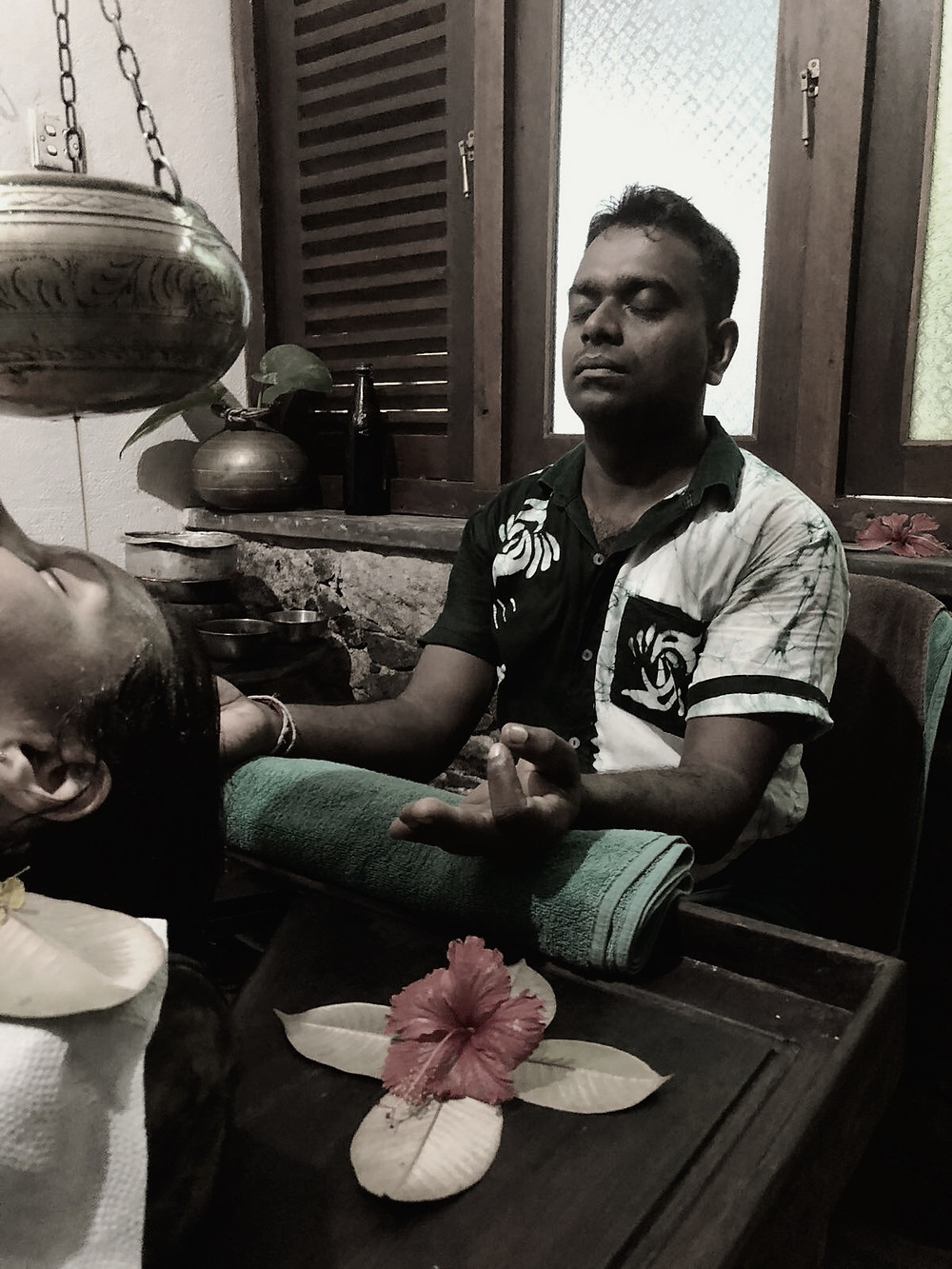 An Ayurvedic treatment with Ranjan in Sri Lanka