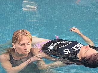 Watsu water bodywork therapy with Louise Luiggi in Sri Lanka