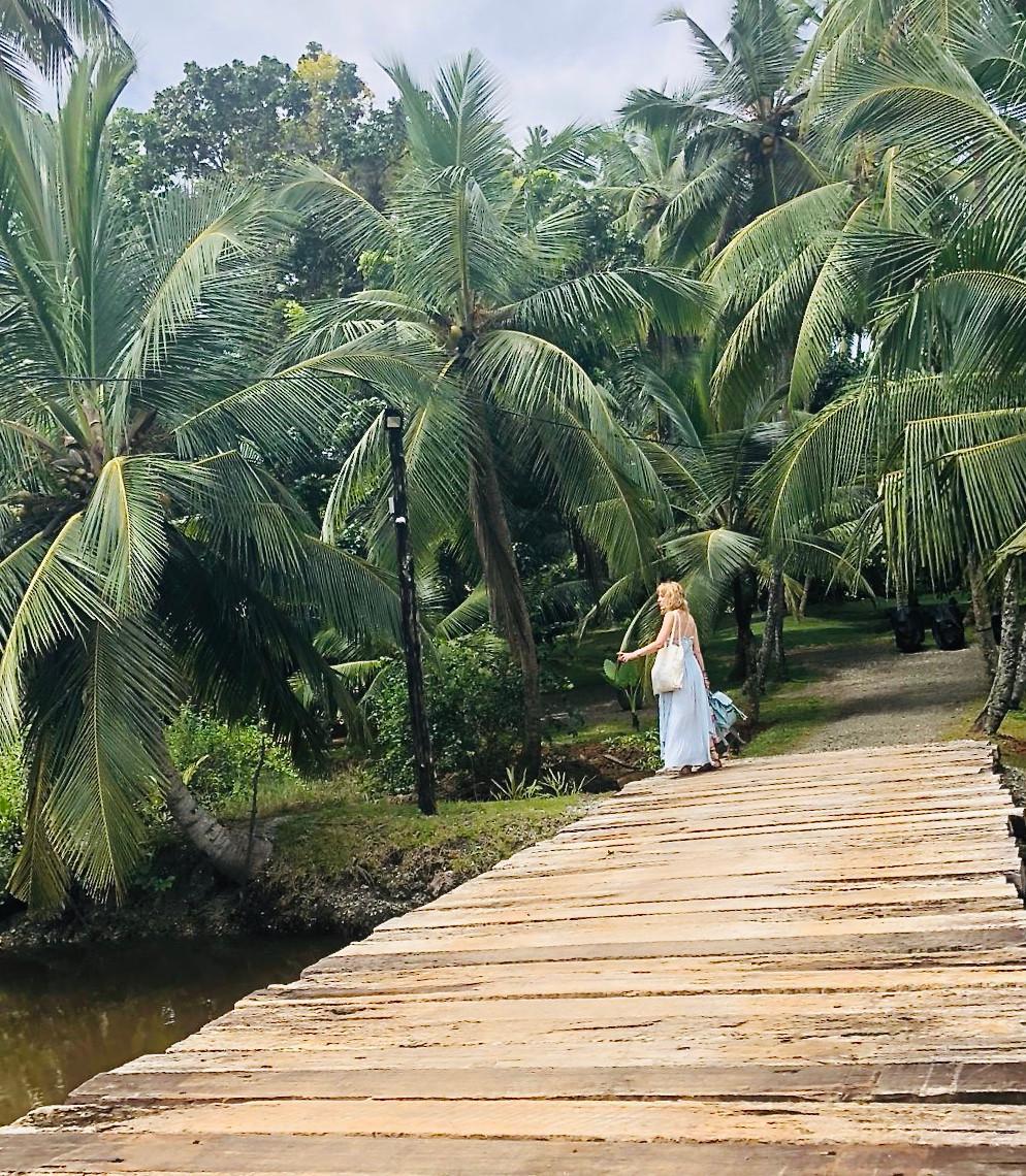 Surrounded by the lush vegetation of Sri Lanka