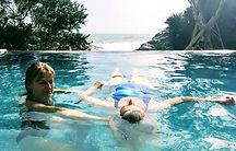 Watsu water bodywork treatment with Louise Luiggi in Sri Lankain