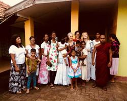 Sri Lanka retreat alms giving