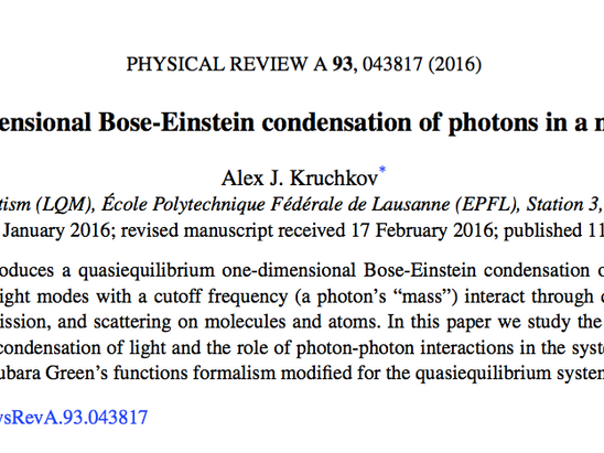 My new single-author paper 'published'