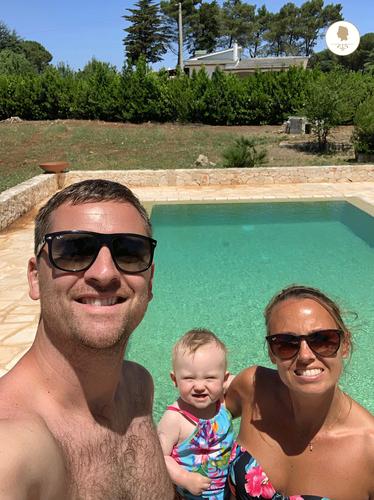 Swimmin Pool with tourists, Trullo Pietro