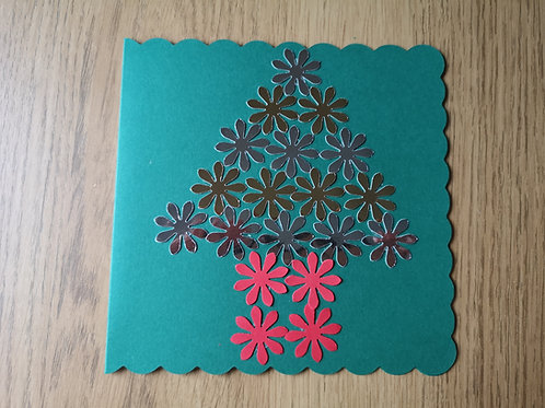 The christmas tree card