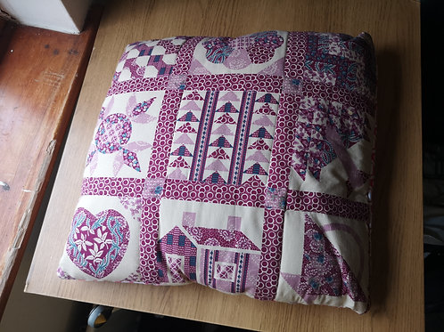 Red patterned cushion