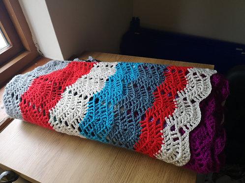 Large colourful blanket