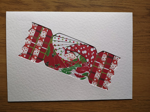 Red Christmas Cracker card