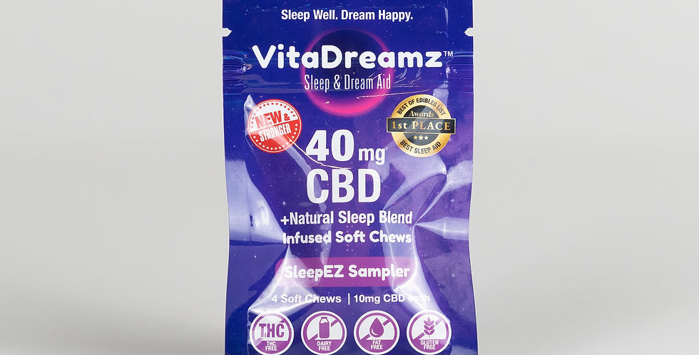 VitaDreamz 40mg CBD+Melatonin 4pack