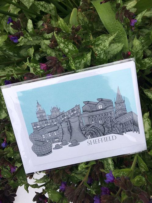 Sheffield Skyline Greetings Card