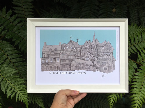 Stratford Upon A4 signed print