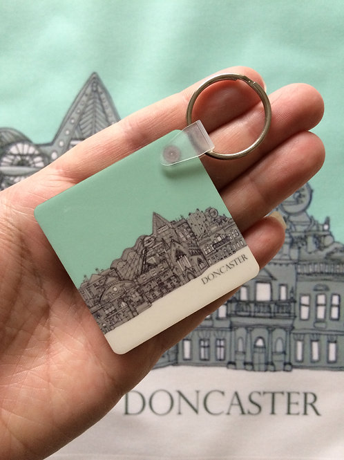 Doncaster Double sided keyring