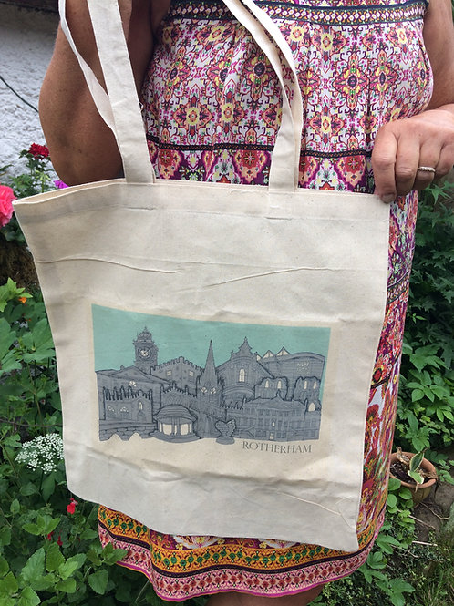 Rotherham Skyline Tote Bag