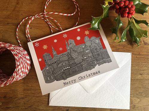 Leeds Skyline Christmas Card