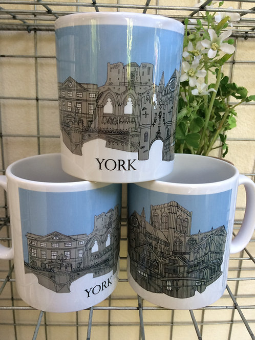 York Skyline Ceramic Mug