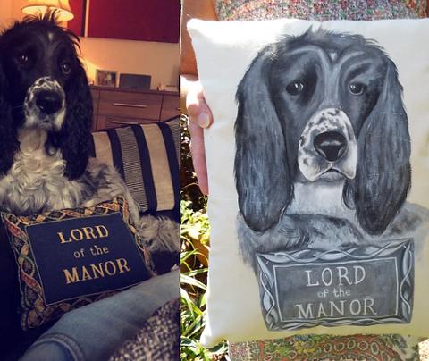 Custom dog cushion