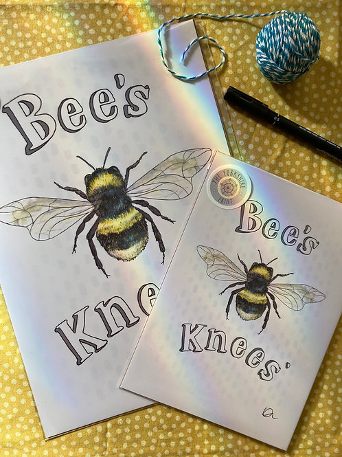 Signed print -Bee's Knees'