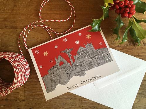 Skipton Skyline Christmas Card