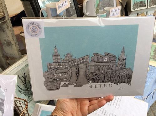 Sheffield skyline Print