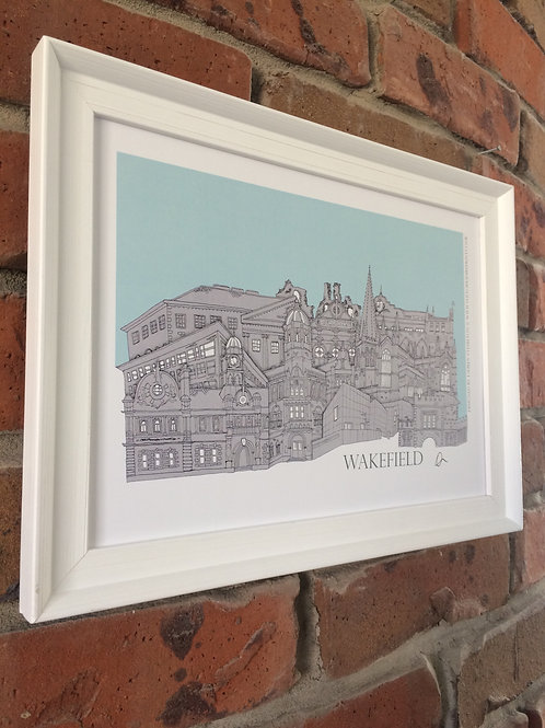Wakefield Signed Skyline Print (unframed)Wak