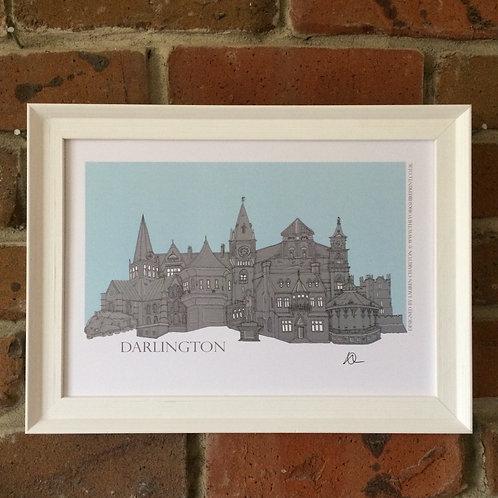 A4 Darlington Skyline Signed Print