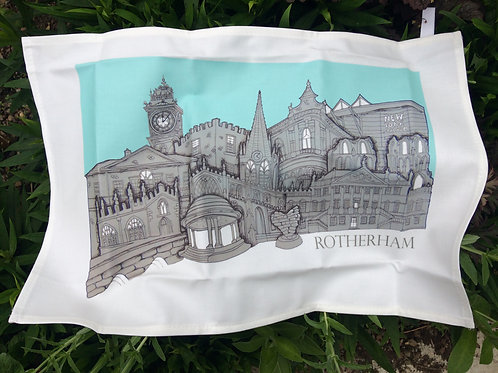 Tea Towel Rotherham skyline