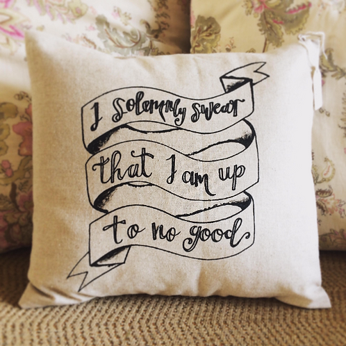 I solemnly swear... Silkscreen Cushion