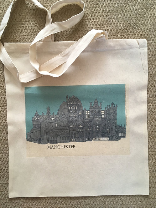 Tote Bag Manchester Skyline