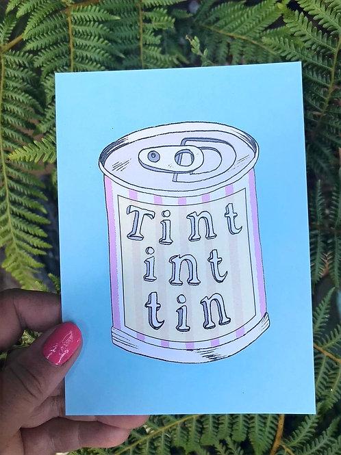 'Tint int Tin' Postcard