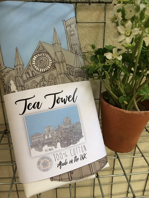 Tea Towel York Skyline