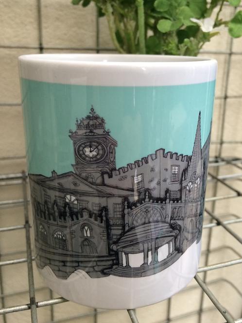 Rotherham Skyline Ceramic Mug