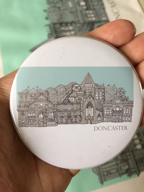 Round Magnet Doncaster Cityscape