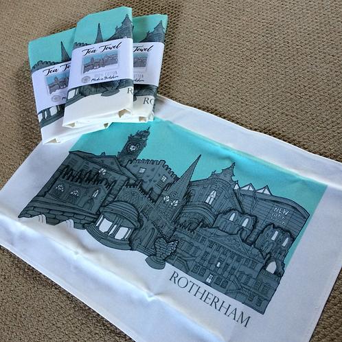 Tea Towel Rotherham Skyline