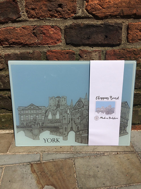 York skyline Glass Chopping Board