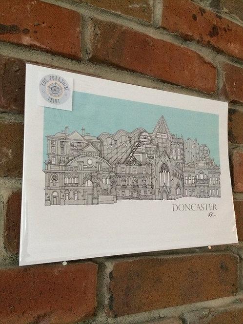 Doncaster Signed Skyline Print (unframed)