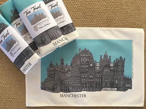 Tea Towel Manchester Cityscape