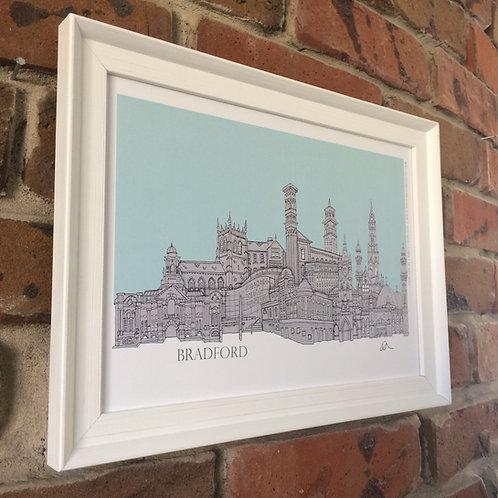 Signed Skyline Print (unframed) Bradford