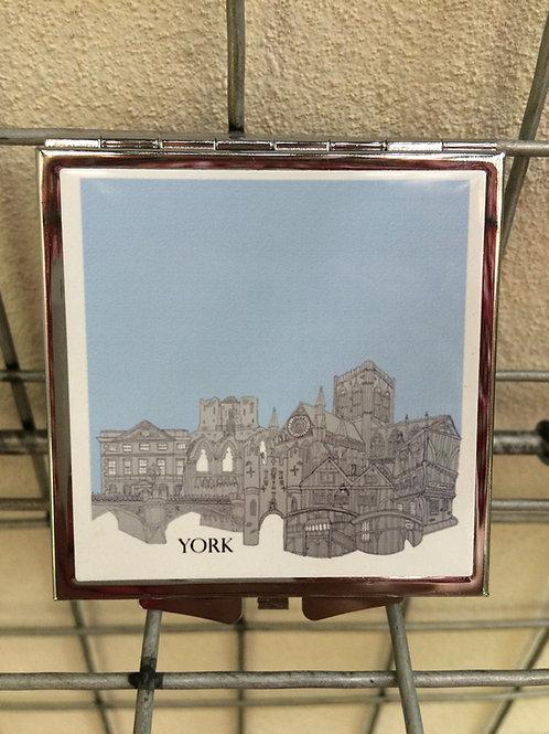York Skyline Compact Mirror