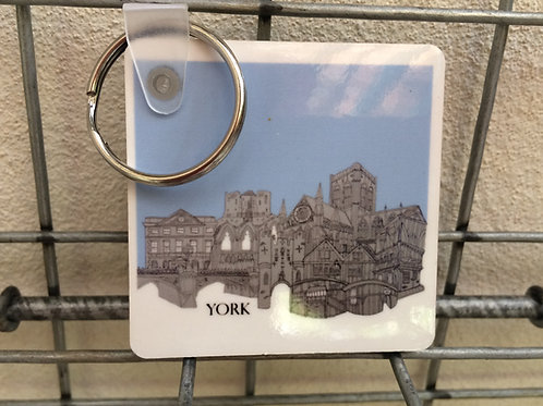 York Double sided keyring
