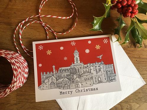 Barnsley Skyline Christmas Card