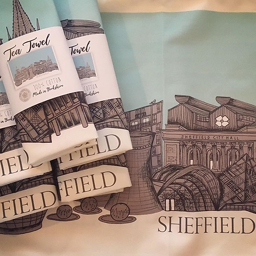 Large Sheffield Tea Towel