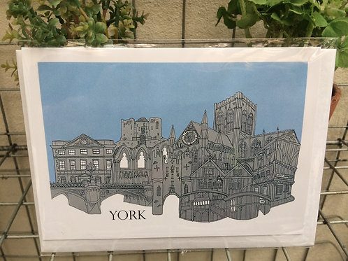 York Cityscape Greetings Card
