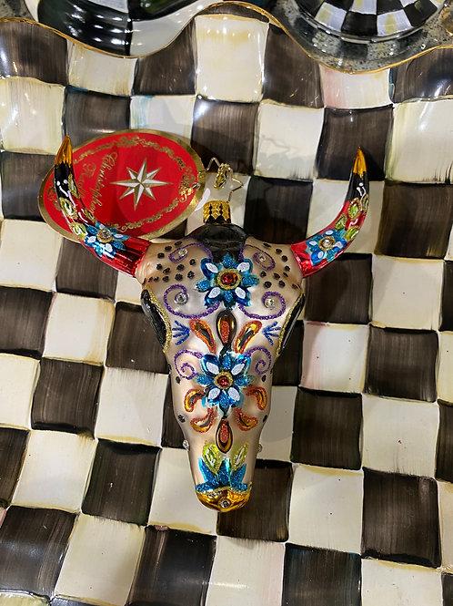 Sugar Skull Bull Radko Ornament