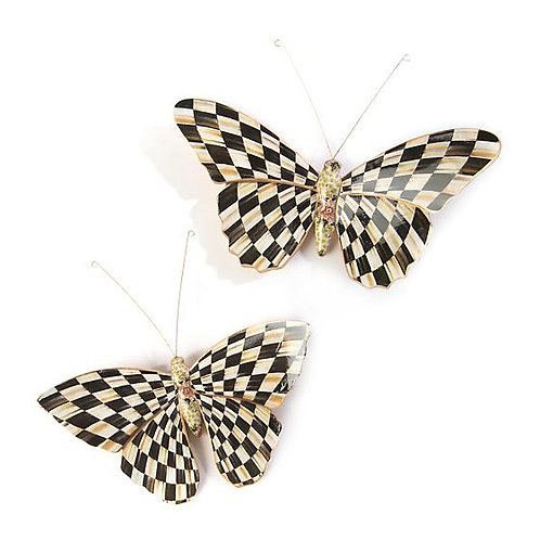 Mackenzie Childs Butterfly Duo - Courtly Check